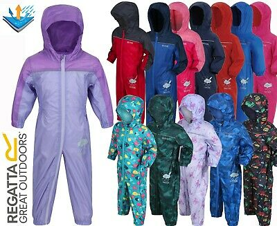 Rrp £30 Regatta Childrens Puddle Rain Suit Waterproof Rainsuit Kids Boys Girls
