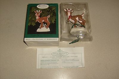 HALLMARK CHRISTMAS ORNAMENT RUDOLF The Red Nosed REINDEER 1996 Lights Up