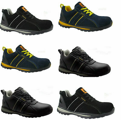 Mens/boys New Safety Steel Toe Cap Work  Trainer Shoe Boots   Size 3 To 13