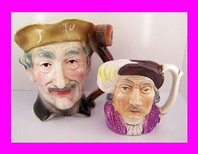 2 Character Jugs Figurines Shakespeare and OLD MAN