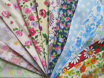 FLORAL COTTON BIAS BINDING Per Metre or Whole 25 Metre Reel (27 Yard Roll)
