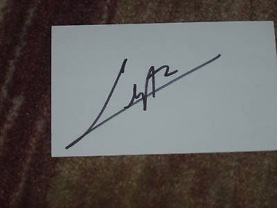 Camilo Villegas Signed 3x5 index Card