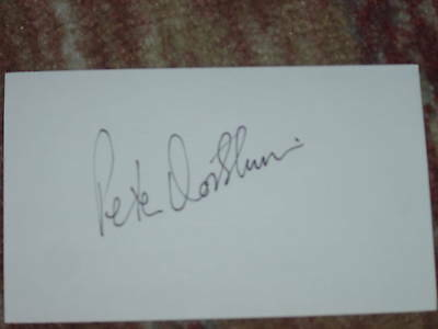 Peter Oosterhuls Signed 3x5 index Card