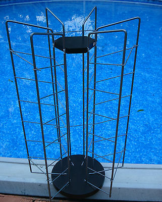 MERCHANDISE SPINNING ROTATING RACK STORE DISPLAY COUNTER TOP WIRE