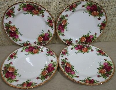 Royal Albert Old Country Roses 4X Bread Butter Dessert Plates Bone China England