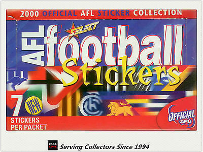 Collectable-2000 Select AFL Stickers Factory Box (100 Packs) + Album-- Rare