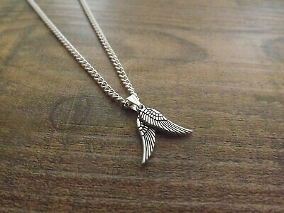 """10 Silver Plated 18"""" Necklaces Double Angel Wing Pendant Wholesale Jewellery"""
