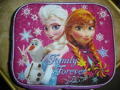NWT Disney Frozen Elsa & Anna Pink Family Forever insulated lunch tote box bag