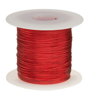 """25 AWG Gauge Enameled Copper Magnet Wire 1.0 lbs 1012' Length 0.0188"""" 155C Red"""