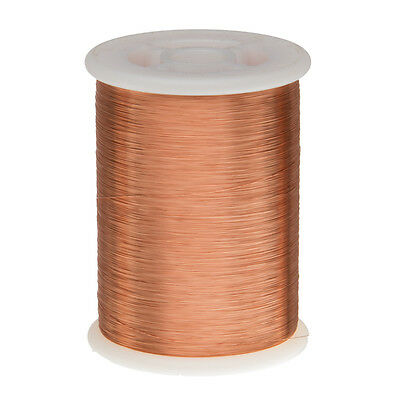 "34 AWG Gauge Enameled Copper Magnet Wire 1.0 lbs 8086' Length 0.0069"" 155C Nat"