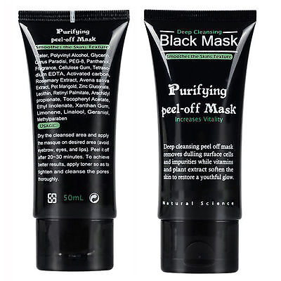 Facial  Deep Cleansing Black Mask Clean Blackhead  Purifying peel-off Mask 50ml