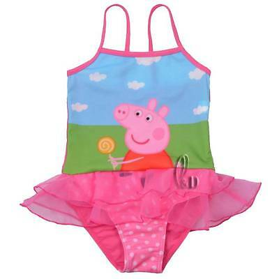 Girls Kids Peppa Pig Swimwear One Piece Swimsuit Swimdress AU SELLER gs013
