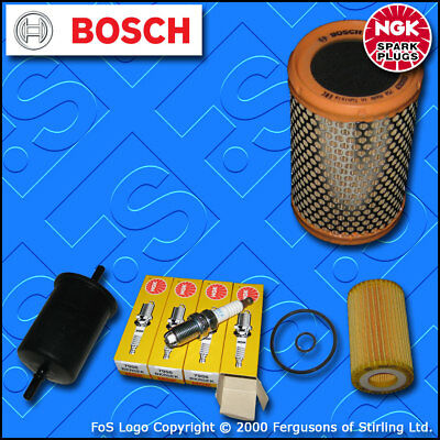 SERVICE KIT for RENAULT CLIO MK2 1.2 8V MEHR OIL AIR FUEL FILTERS PLUGS (00-03)