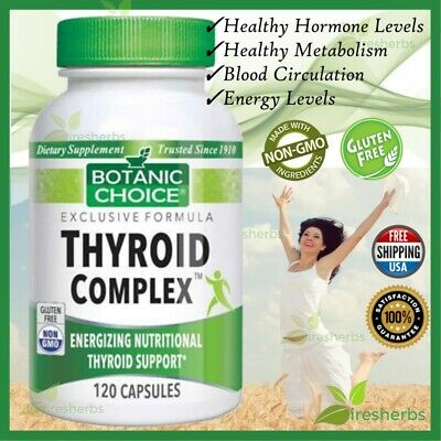 Thyroid Complex Best Botanic Choice Supplement Energy Support Health 120 Capsule