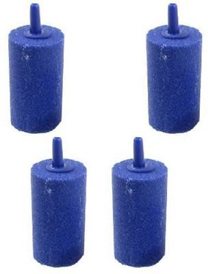 Pack of 4 Cylinder Air Stone 30x17mm Airstone Oxygen into Pond or Fish Tank