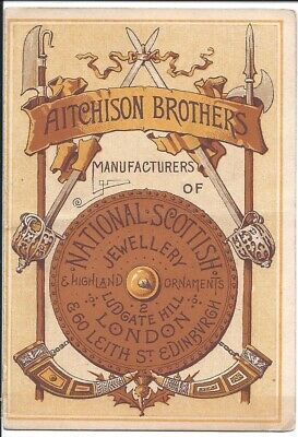 Centennial Exhibitor's Trade Card, Aitchison Bros. National Scottish Jewellery