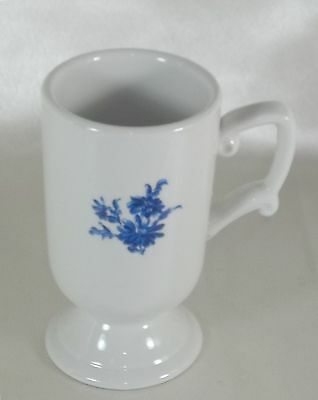 Mayer China Coffee Cocoa Cup Mug Restaurant Ware White & Blue Floral
