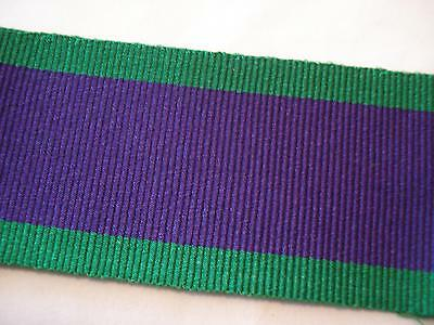 GSM 1962 Medal Ribbon, Full Size, Army, British, Military, 1964, General Service