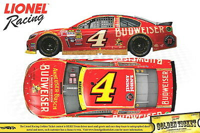 KEVIN HARVICK 2014 BUDWEISER HOLIDAY PACKAGING 1:24 NASCAR DIECAST - PLEASE READ