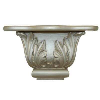 Hickory Manor Scroll Leaf Shelf/Gilt Silver - 2010GS