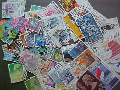 100 Different Hong Kong Stamp Collection - Lot