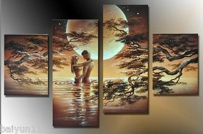 HUGE CANVAS ART MODERN ABSTRACT WALL DECOR OIL PAINTING(No Frame)