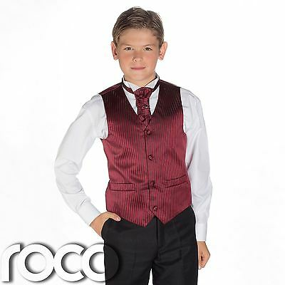 Boys Wine & Black Suit, Page Boy Suits, Boys Wedding Suits, Boys Suits, Stripe