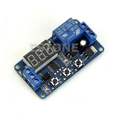 LED Home Automation Delay Timer Control Switch Relay Module Digital display 12V