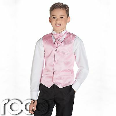 Boys Pink & Black Suit, Page Boy Suits, Boys Wedding Suits, Boys Suits, Diamond