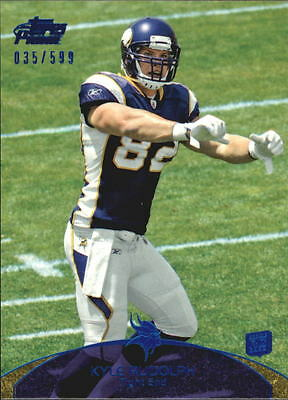 2011 Topps Prime Blue #37 Kyle Rudolph/599 - NM-MT
