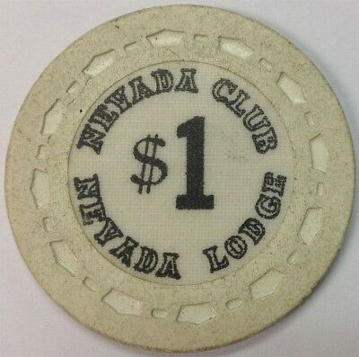 Nevada Club Nevada Lodge $1 Clay Casino Chip Crystal Bay Reno,NV  FREE SHIP *