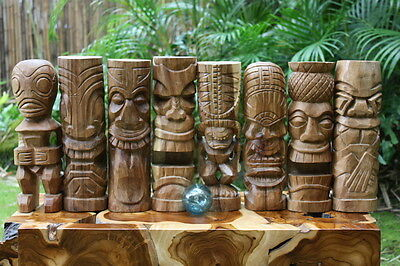 Assortment of 8-Tiki God 12 in Wooden Natural | Hawaiian