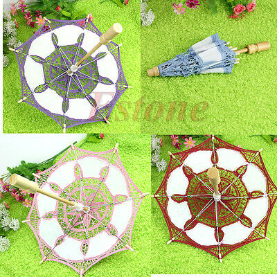 Hot Lace Parasol Embroider Umbrella 15cm For Wedding Bridal Party Decorate