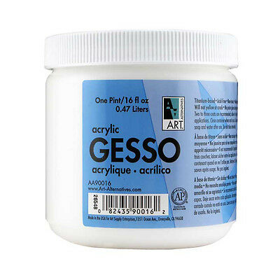 White Acrylic Gesso 16 ounce