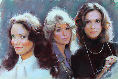 Charlie's Angels, K Jackson, F Fawcett, J. Smith, Giclee print on Canvas by Star