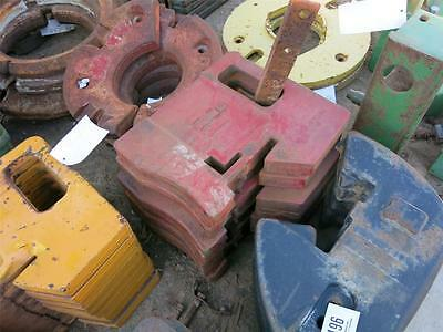International Harvester Stamped Suitcase Weight Ih 66,86 For Tractors #ihsc100-2