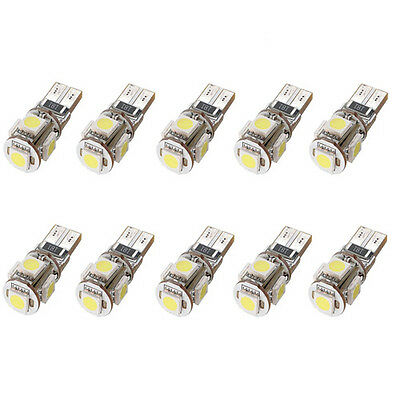 10X Canbus 194168 5050 T10 5 SMD LED weiß Auto Lampe Beleuchtung Birne 12V