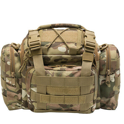 Fishing Hunting Tackle Bag Waist Shoulder Tactical Pack 900D Water Resistant
