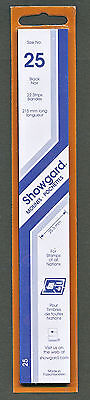 Showgard Stamp Mounts Size 25/215 BLACK Background Pack of 22