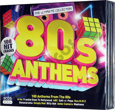 The Ultimate Eighties Anthems 5 CD Songs 1980s Music Tracks Original Recordings
