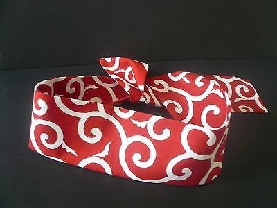 Sevenberry Fabric Karakusa Print Sushi Chief Hachimaki Headband/Bandana/ Red