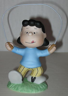 "Lucy ""Jump Rope"" Figurine Approx 4"" Ceramic"