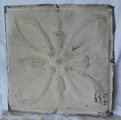 "12"" Antique Tin Ceiling Tile *See Our Videos* Sand Yellow"