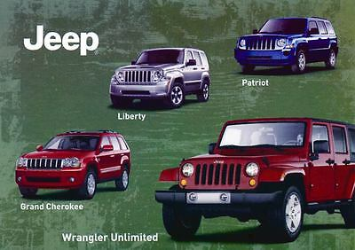 2013 Jeep Wrangler Grand Cherokee Liberty Patriot Large Factory Postcard my1763