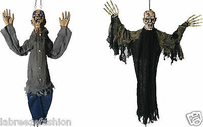 Halloween 90cm Hanging Zombie Scary Face Spooky Prop Decorations Party