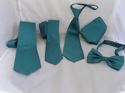 "Mens Teal Green Ties>Classic 3.3""=8cm-Skinny 2""= 5cm-Boys 3""=7.5cm-Bow ties-Sets"