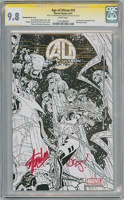 Age Of Ultron #10 Sketch Variant Cgc 9.8 Signature Series Signed Stan Lee Bendis