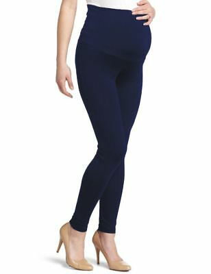 New Maternal America Maternity Essential Belly Support Stretch Leggings ~Navy