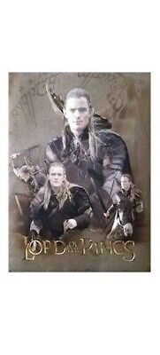 LORD OF THE RINGS MOVIE POSTER ~ LEGOLAS FOIL DUOFEX 23x31 Trilogy Orlando Bloom