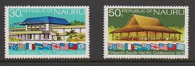 1975 NAURU Welome Stamps Sth Pacific Set of 2 MUH Stamps